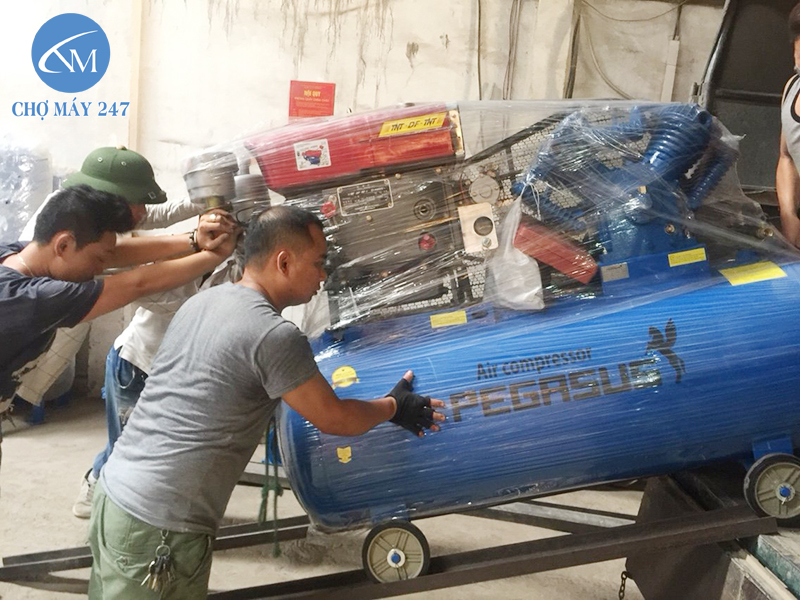 bảo dưỡng Máy nén khí chạy dầu Diesel Pegasus TM-W-2.0/8-500L/20HP