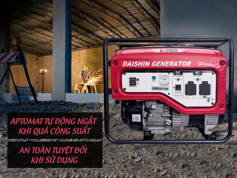 máy phát điện mini gia định Daishin sở hữu công suất lớn